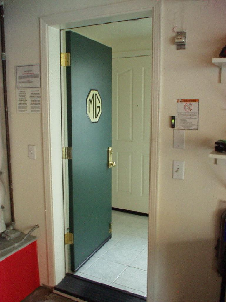 Another view of the MG door into the foyer. (June 1, 2004)