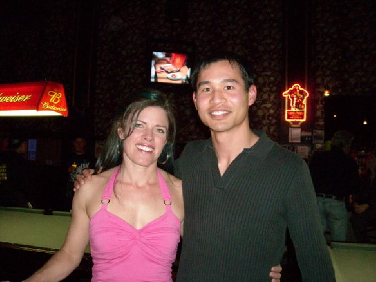 Felix Wong with his good friend Adrienne from Girls on Top.