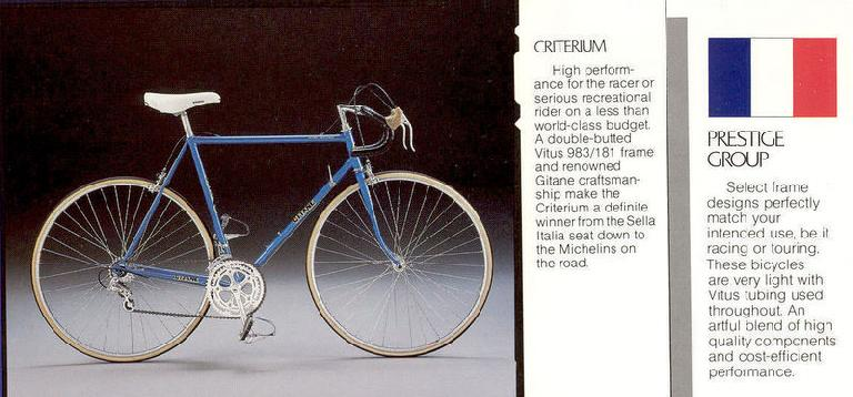 The 1984 Gitane Criterium from an original 1984 Gitane bicycle catalog. (Image: Robert S. Broderick/gitaneusa.com)