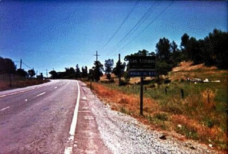 San Andreas sign, 1995 Gold Rush Century