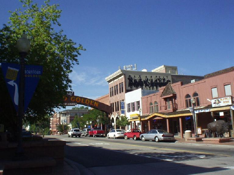 Downtown Golden is small but does feel very western.  It is popular with the Harley crowd and you can often here country music from a couple of the surprisingly few restaurants.