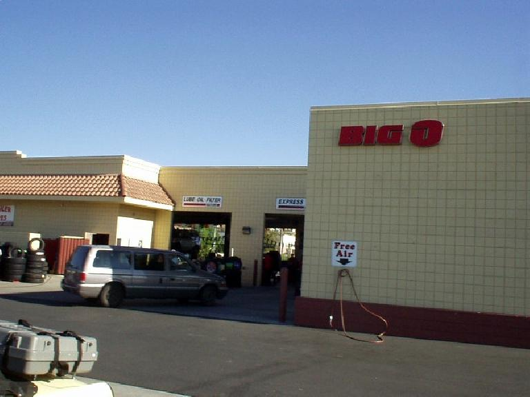 As luck would have it, there was a Big O Tire shop in the same parking lot.