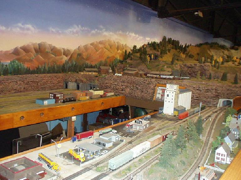 At the fairgounds was a very elaborate model train exhibit.