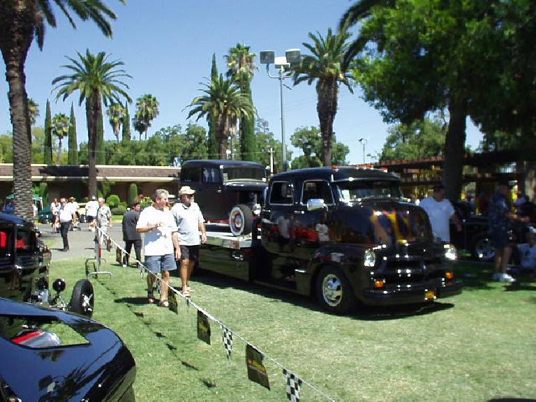 Hot rods weren't limited to cars... here's a souped-up tow truck!