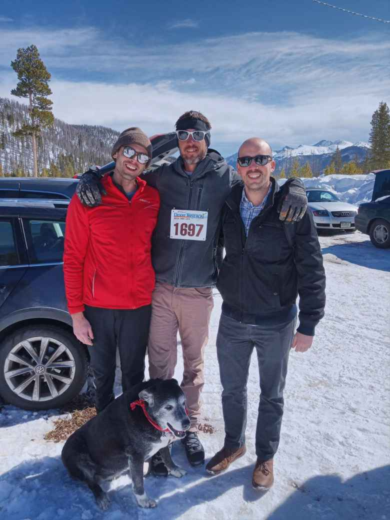 Alex, Wes, and Manuel at the Gould Ski Scramble/Snowshoe Stomp.