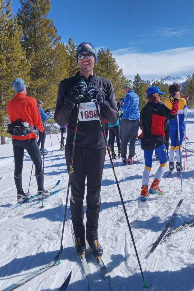 Alex entered the Gould Ski Scramble Skate Ski 10k race.