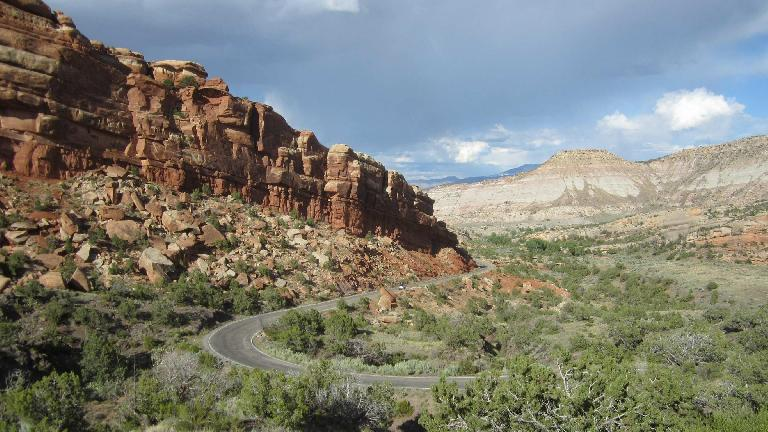 [Mile 177, 5:50 PM] The Colorado National Monument was pretty spectacular.