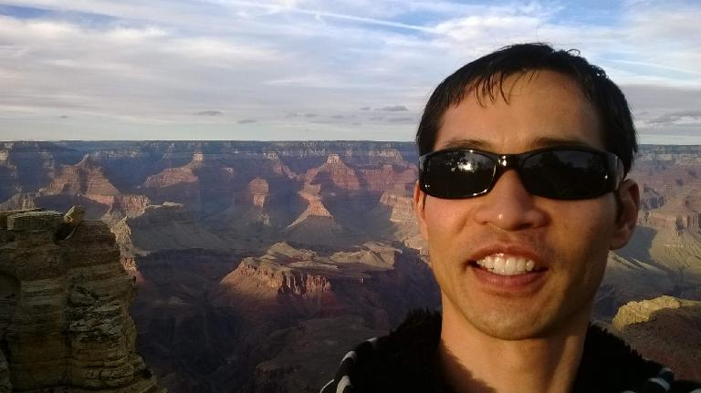 Felix Wong with the Grand Canyon as the backdrop.