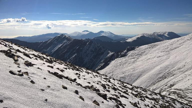 I think Mt. Bierstadt and Mt. Evans---two other fourteeners---are in the background.
