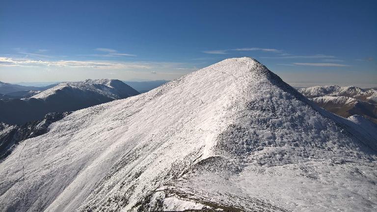 Climbing towards the summit of Torreys Peak.