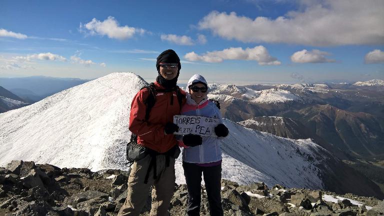 Felix and Maureen at the top of Torreys Peak.