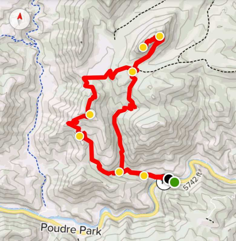 A 7.2-mile route leading to the summit of Greyrock, via the Greyrock Trail and Greyrock Meadows Trail.