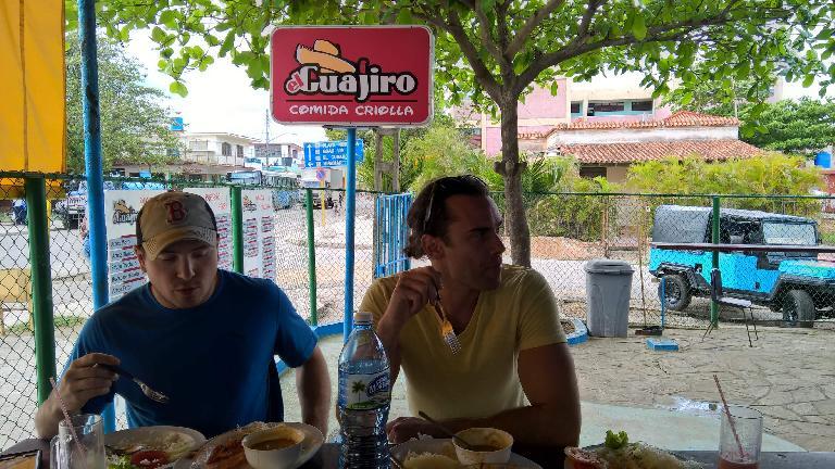 Matt and Alex at Guajiro restaurant in Guanabo, Cuba.