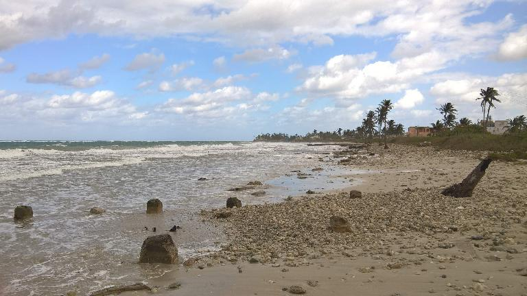 One of the beaches in Guanabo, Cuba.