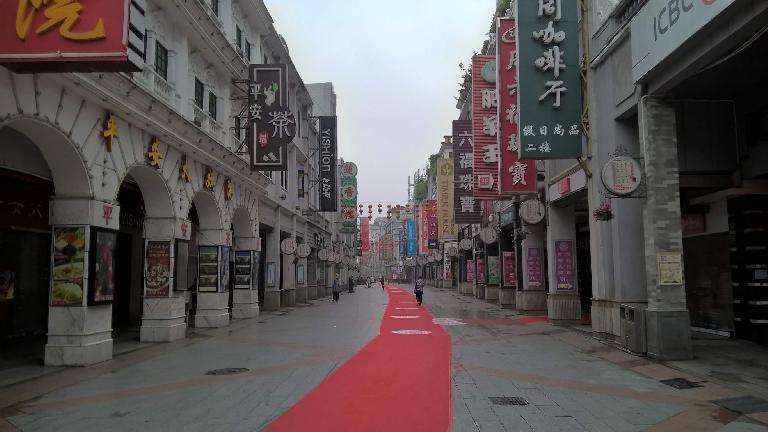 red carpet, Shangxiajiu Pedestrian Street, morning