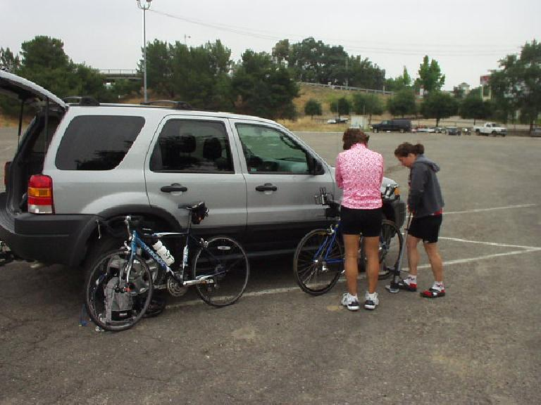 On Saturday, Diane and Sharon did the Surprise at Spanish Camp 35-mile ride whereas I did the 10-mile time trial.  Here's