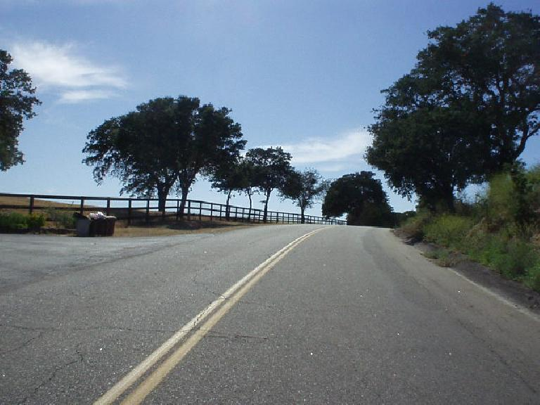 [Mile 89, 4:25 p.m.] Still more climbing, and not the last: getting closer to Paso Robles.