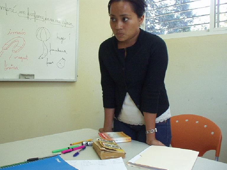The second week my teacher was Janeth, for both group and private classes.  She also was very good. (March 9, 2007)
