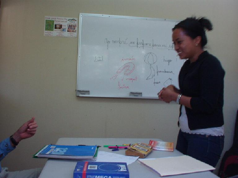 Janeth in one of our group classes. (March 9, 2007)