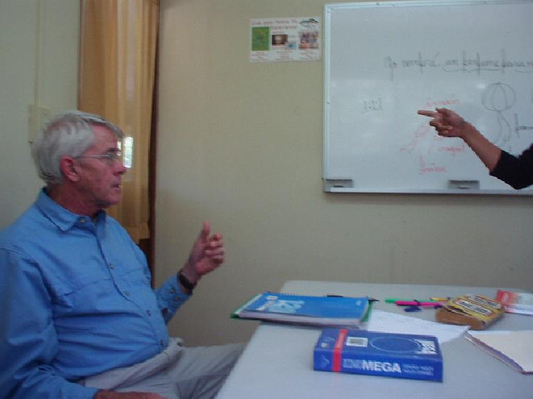 One of the other 2 students in my group classes was Michael, an ex-pat (formerly of Denver) who retired in Boquete. (March 9, 2007)