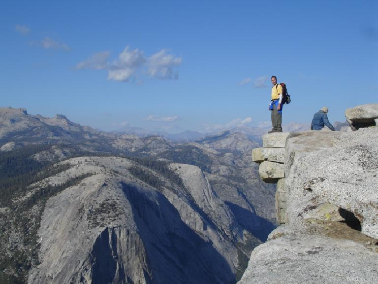 Made it!  Dave at the top of Half Dome!