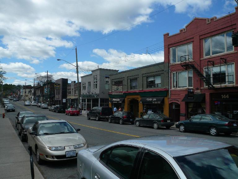 Locke St. is Hamilton's traditional downtown area.  There is even a Starbucks just a few doors away from my mom and dad's old apartment.