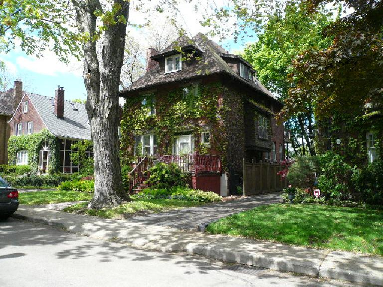 My dad purchased this home before attending medical school at McMaster, converting it into a three-level triplex.  My parents sold it before moving to the States.