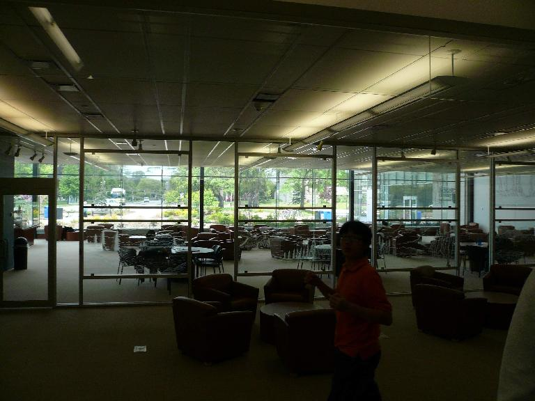 Inside the Library of Health Sciences.