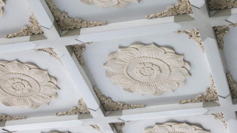 Ceiling detail of the Leifeng Tower.