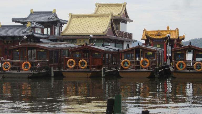 Houseboats on West Lake.