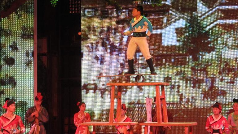 Young acrobat.