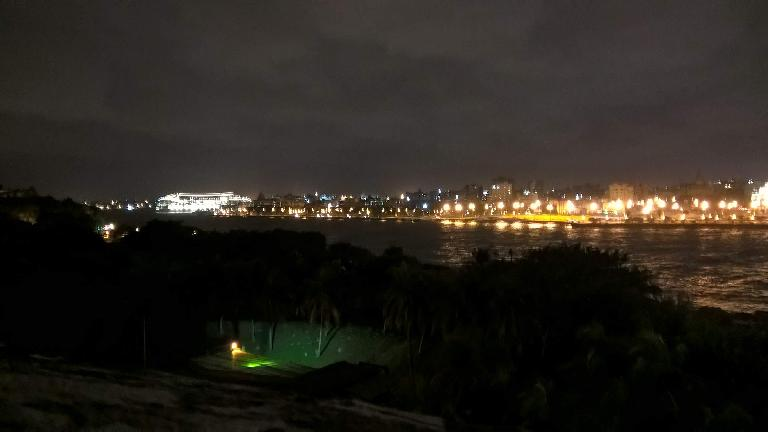 The lights of Havana as seen from El Morro.