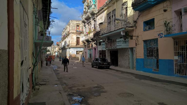 A street in or near Chinatown in Havana (possibly Calle Manrique).