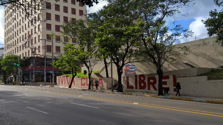 Viva Cuba Libre in the Vedado area of Havana.