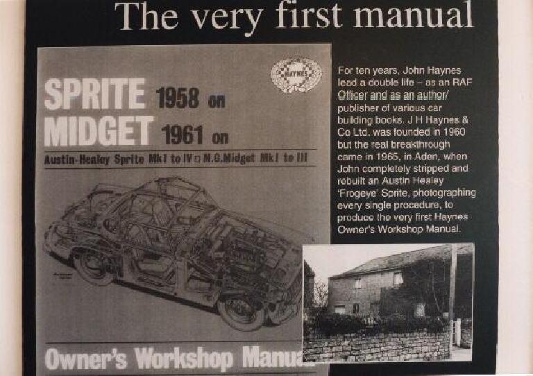 The first workshop manual John Haynes wrote.