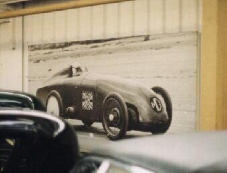 MG race car poster.