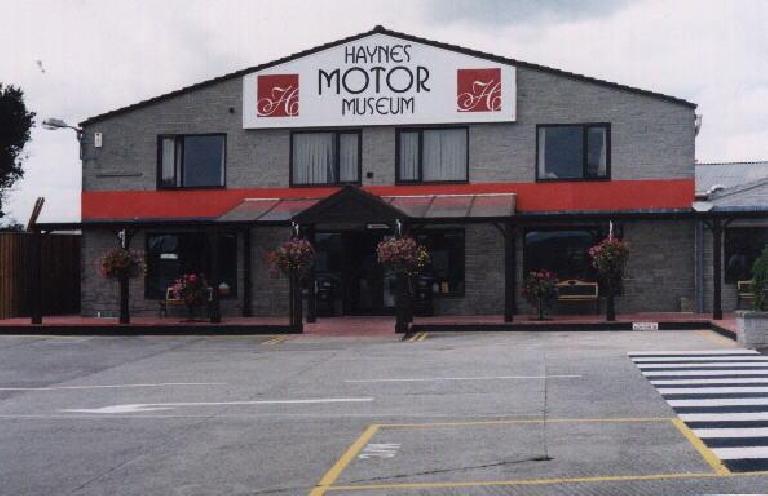 Outside the Haynes Motor Museum.