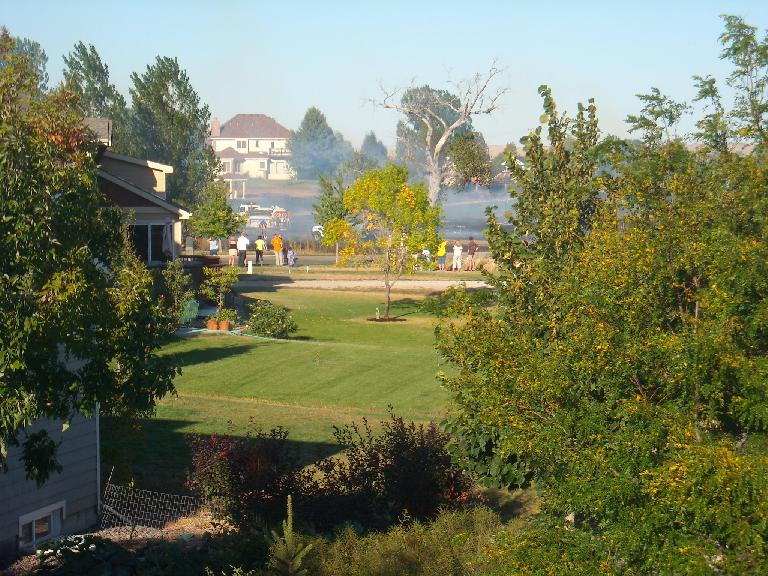 A brush fire in my neighborhood was only about 500 feet away from my house.