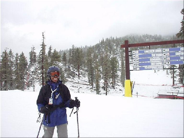 ...while Kristina used her telemark skis, often leading the way for me down a couple of runs.