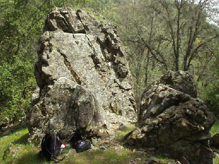 There were a few rocks pretty good for bouldering.