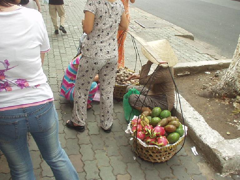 Fruit vendor on the street of Ho Chi Minh City.