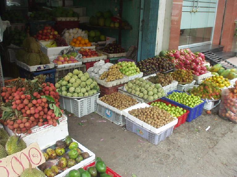 Sidewalk market in Saigon.