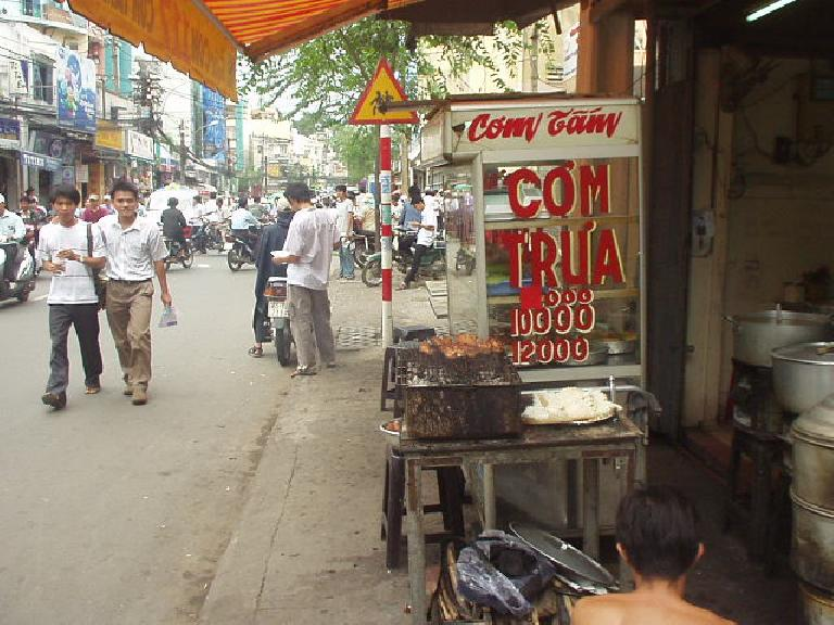 Grilled meat in Saigon.