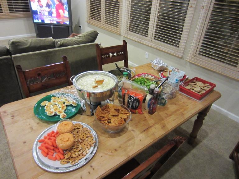Some of the food for the potluck.