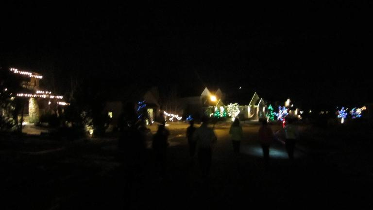 The Fossil Lake neighborhood had lots of homes with holiday lights.