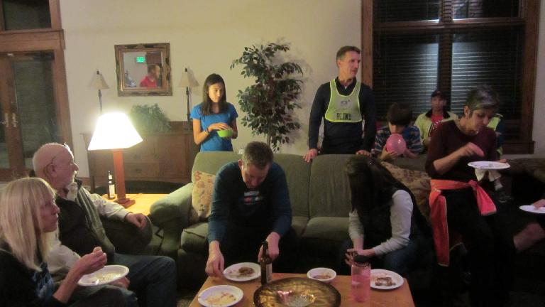 FCRC President Dan (wearing the green vest) gave a short speech at the potluck.