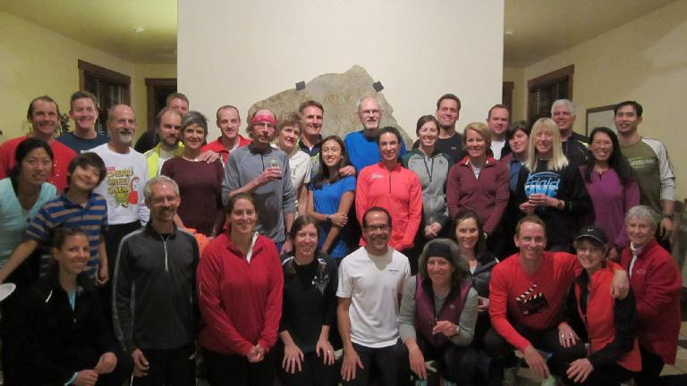 Fort Collins Running Club members who attended our annual Holiday Lights Run and Potluck.