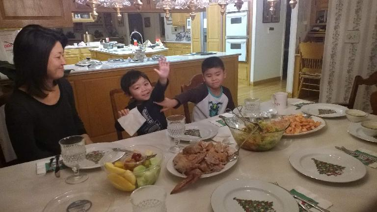 My nephews during a Christmas Day dinner. (December 25, 2014)