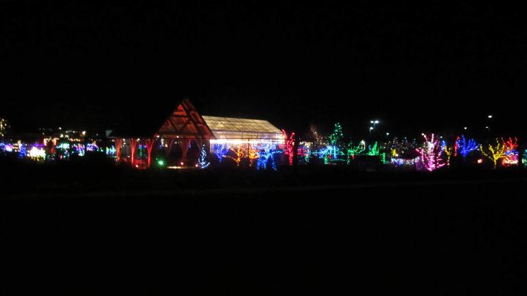 The Gardens at Spring Creek, as seen during the Fort Collins Running Club's Holiday Lights Run. (December 16, 2014)