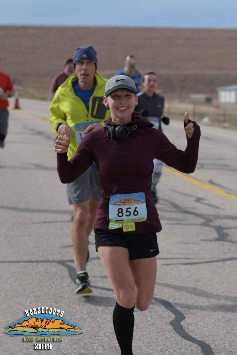 My friend Kristina looking good in her first half marathon.